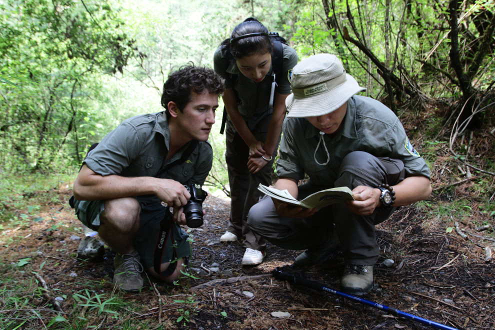 Park wardens during one of the eco-tours aimed at promoting environmental education and sustainable tourist development.