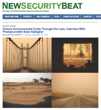 China's Environmental Crisis Through the Lens – Woodrow Wilson Center – New Security Beat