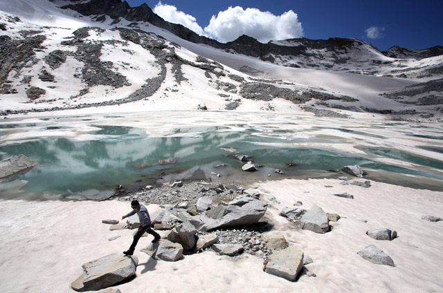 The idyllic image of the Tibetan Plateau?... The Dagu Glacier in northern Sichuan is rapidly disappearing as temperatures rise on the plateau faster than anywhere else in Asia.