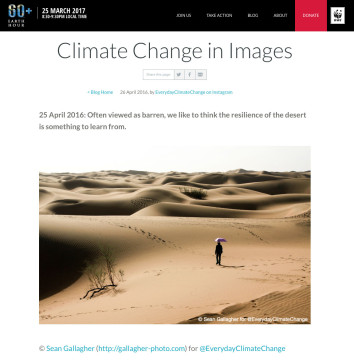 Climate Change in Images – Earth Hour Blog