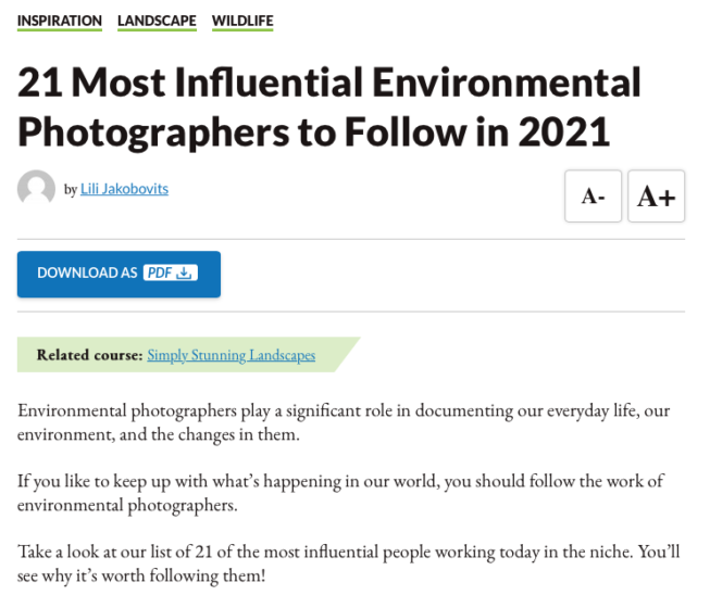 Most Influential Environmental Photographers to Follow
